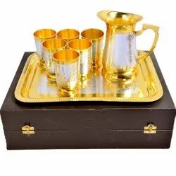 Gold and Silver Plated Jug Set, Size: Normal