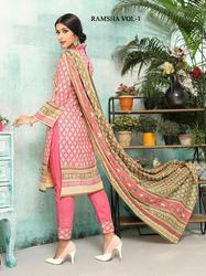 Nishaat Cotton Ramsha Vol-1 Series 4001-4010 Stylish Party Wear Cotton Suit