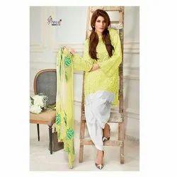 Cotton Hand Wash Ladies Plain Salwar Suit