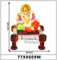 MULTICOLOUR LORD GANESHA DECORATIVE STATUE