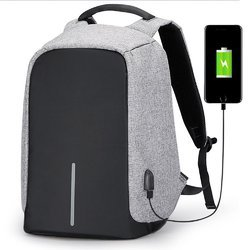Polyster Black and Grey Anti Theft Laptop Bag 47 cms a674ccc8a6099
