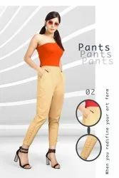 Heavy Strachable Fabric Pant With Side  Pocket