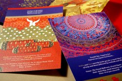 Paper Glossy Invitation card four colour