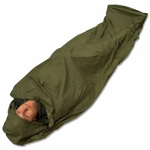 Green Nylon Clothes Fiber Sheet Military Sleeping Bag