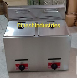 Double Tank Gas Deep Fryer