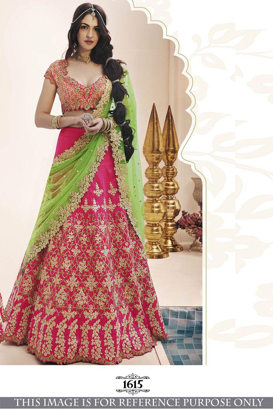 496ceb6cfa5 Chiffon Red Wedding Gota Work Lehenga Choli