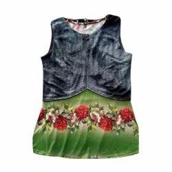 Cotton Sleeveless Floral Print Ladies Tops