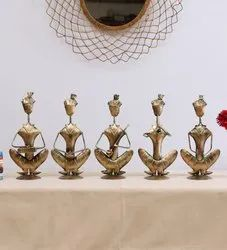 Iron Sitting Musician Human Figurine Set of 5 Showpiece, For Table Decoration