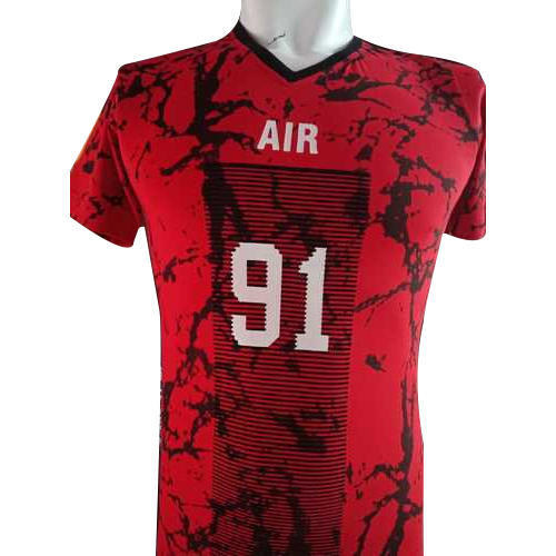 d634c9ef43 M To 4XL Mens Red Printed Sports T-Shirt, Rs 90 /piece, Fit For Man ...
