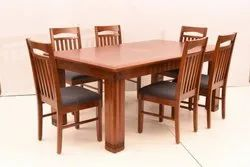 6chair And 1 Table Wooden Dining Set, Seating Capacity: Six Seater, Size/Dimension: 30x60x30
