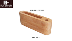 KALANIDHI Wooden Pen Stand (1), For Home, Size: 5.5*1.5*2