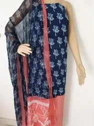 Salwar Suit with Chiffon Dupatta