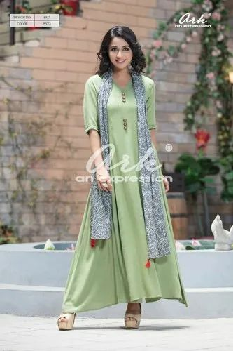 Ladies Kurti With Stole