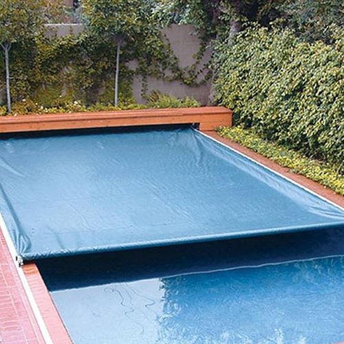 Blue Plastic Swimming Pool Cover, Rs 50000 /piece Asha Technocrats ID: 15669132248