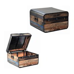Brown Reclaimed Wooden Chest Box Gift Item Storage
