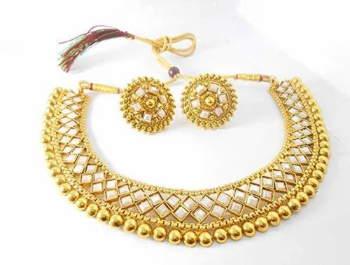 Nv Jeweler Ethnic Traditional Copper Gold Plated Jewellery Set