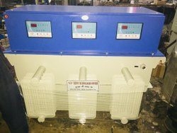Three Phase Model Name/ Number: Servo 100 KVA 3phase Oil Cool Voltage Stabilizer, Current Capacity: 133