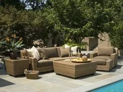 Outdoor Furniture Wicker Conversation Set