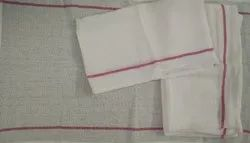 Cotton Two stripe kitchen towel, 250-350 GSM, Size: 15 X 25 Inches