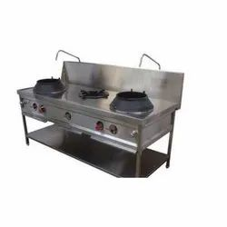 3 Stainless Steel Chinese Cooking Range, for Restaurant