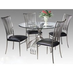 Polished Stainless Steel Dining Table