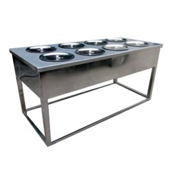 Stainless Steel 8 Container Bain Marie, For Commercial
