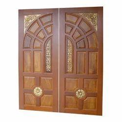 Brown Wooden Double Door