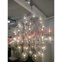 SS Frame Round Glass Light