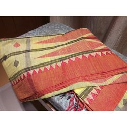 PC Khadi Indian Cotton Saree, 6.3 m (with blouse piece)
