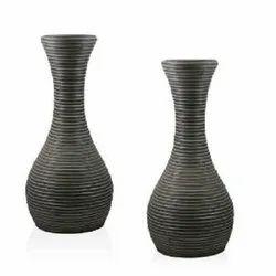 Black Wooden Vase