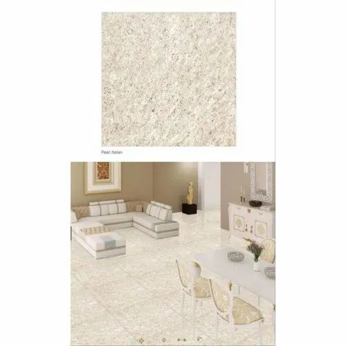 Gera Glossy Pearl Italian Ceramic Floor Tiles, Thickness: 0-5 mm, Size: 12x12 Inch