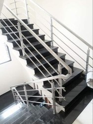 Stairs Staircase SS Hand Railings for Home, Mounting Type: Floor
