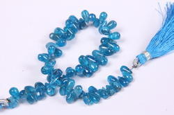 Apatite Side Drilled Plain Tear Drops Beads