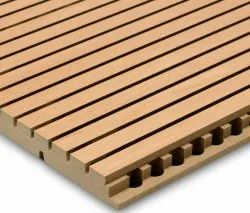 Sleto Wooden Grooved Acoustic Panel., For Sound Absorbers, Tongue Groove