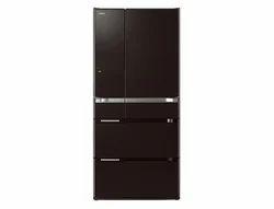 Brown Hitachi Refrigerator