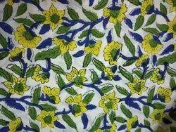 vandana textile Blue Hand Block Print Cotton Fabric, GSM: 50-100