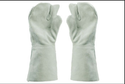 White 3 Finger Mitten Gloves Nms333.40. (ntrl)