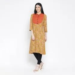 Reoyn Straight LADIES KURTIS, Machine wash