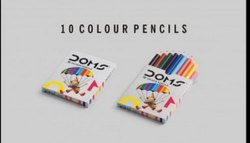 Doms Half Size 10 Color Pencil (10 Shades, Pack Of 1)