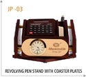Promotional Revolving Pen Stand with Coaster Plates