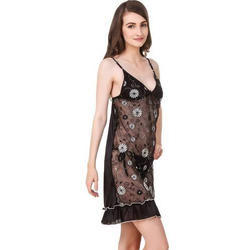 945799dad2 Floral Print Black and White Nighty