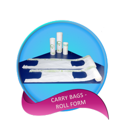 Corn Starch White Compostable Carry Bags - Roll Form