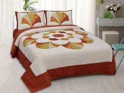 Rangoli Print Cotton Double Bedsheet