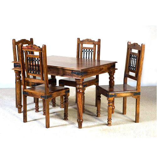 20 80 76 Inch Antique 4 Seater Dining Table Set