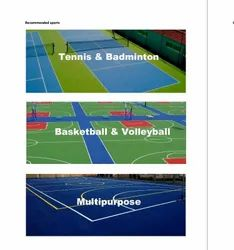 PU Synthetic Sports Flooring