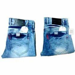 Men Denim Casual Wear Faded Slim Fit Stretchable Jeans, Waist Size: 32