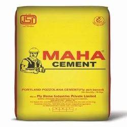 Grade 43 Maha Pozzolana Portland Cement, Packaging Size: 50 Kg
