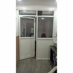 Aluminium,Glass White Aluminum Hinged Door, for Home,Office