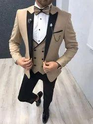 Blue Plain Mens Wedding Suit