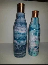 Copper Bottles Set Of 2